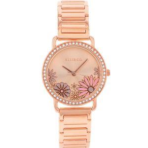 Ellis & Co 'Eden' Rose Gold Plated Women's Watch
