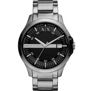 Armani Exchange Hampton AX2103 Silver 50Metres Water Resistant Mens Watch