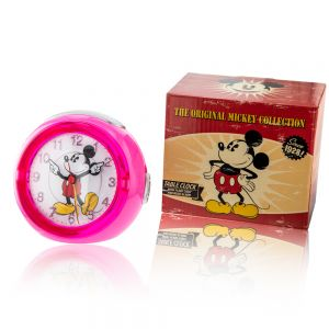 Disney TR87993 Mickey Mouse Musical Pink Alarm Clock