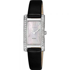 Citizen Eco Drive EX1471-16D WomensBlack Leather  Watch