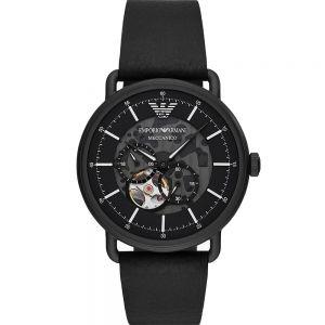 Emporio Armani AR60028 Black Skeleton Automatic Mens Watch