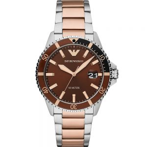 Emporio Armani AR11340 Two Tone Stainless Steel Mens Watch