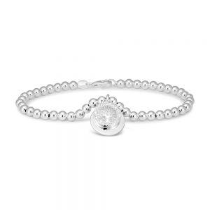 Sterling Silver Tree Of Life Charm 19cm Ball Bracelet