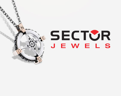 Secter Jewels brand stainless steel wind rose pendant with 50cm chain
