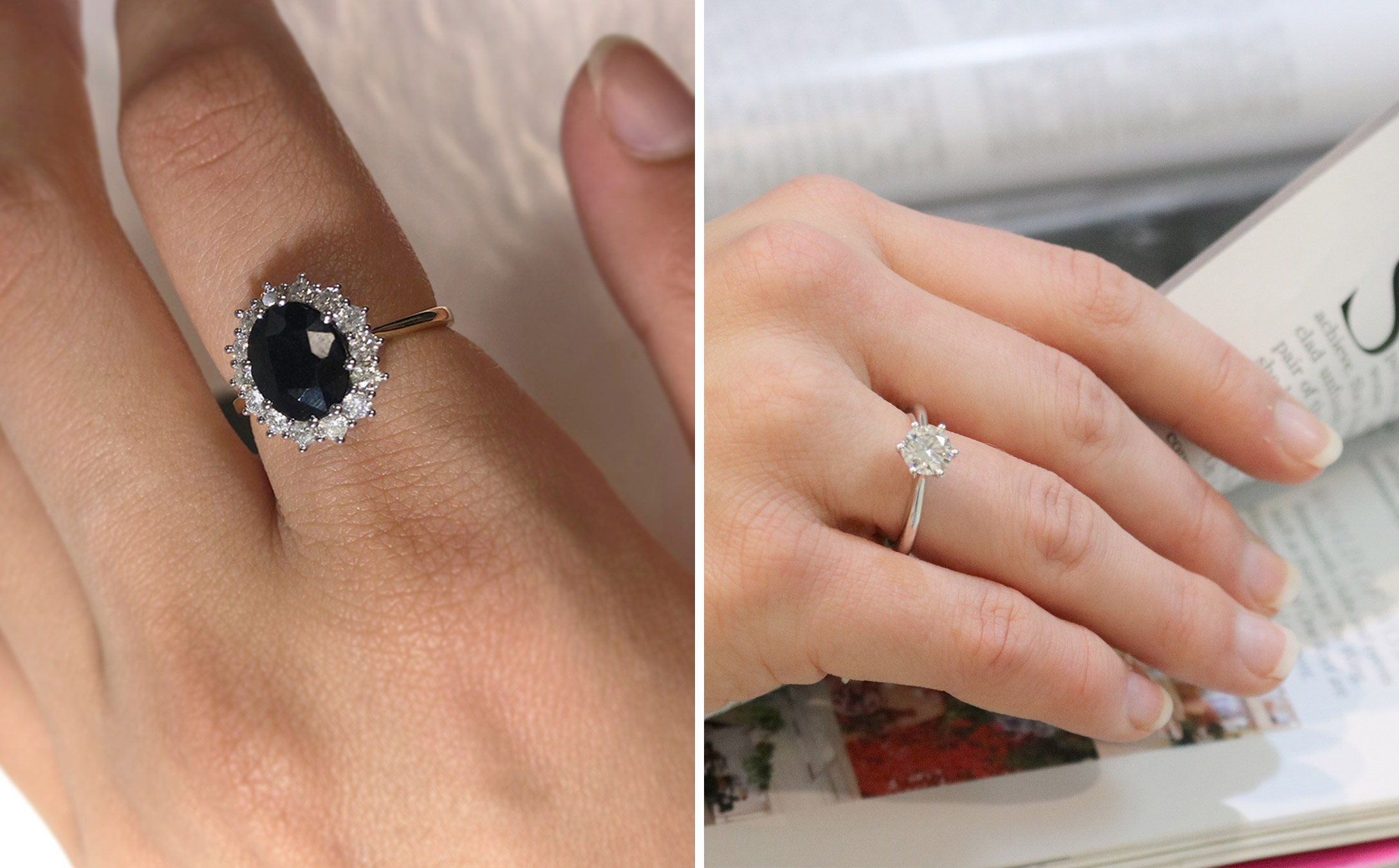 How to make your diamond look bigger: thinner bands